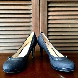 Nine West Navy Heels with Platform